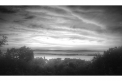 Foggy BW Sunrise Port Henry
